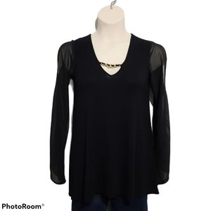 Marciano Cold Shoulder With Sheer Sleeves